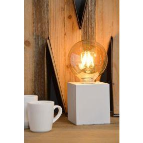 Lucide Pablo - lampe de table - 8 x 8 x 9 cm - blanc