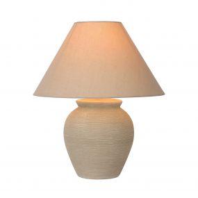Lucide Ramzi - lampe de table - 42 cm - beige