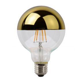 ampoule à filament LED à intensité variable avec réflecteur en or - 12,5 cm - E27 - 5W - 2700K