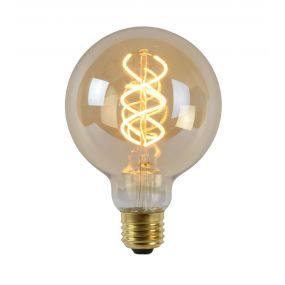 ampoule à filament LED à intensité variable - Ø 9,5 cm - E27 - 5W - 2200K - ambre