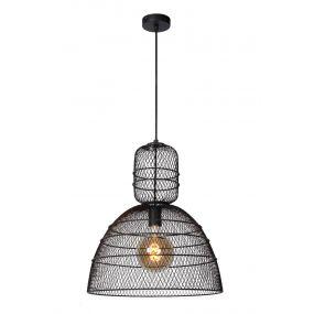 Lucide Gasset - hanglamp - Ø 42,5 x 169 cm - zwart