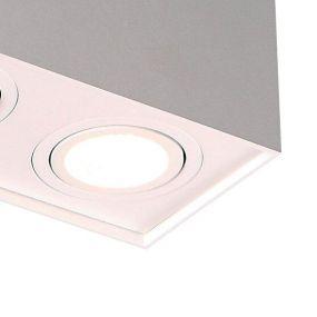 Maxlight Base carré - spot 2L - 19 x 12 cm - blanc