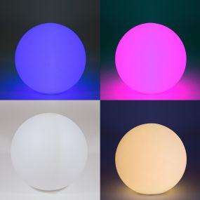 GG- spot - RGB - télécommande, piles et chargeur inclus - Ø 30 cm - blanc