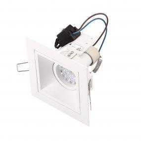 Maxlight Hit - spot encastrable 1L - 115 x 115 mm, 95 x 95 mm taille d'encastrement - blanc
